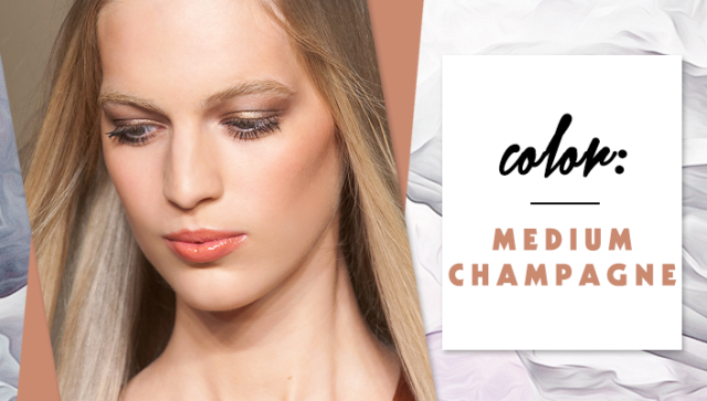STYLECASTER | Simple Hair Color Chart for Every Shade | Medium Champagne