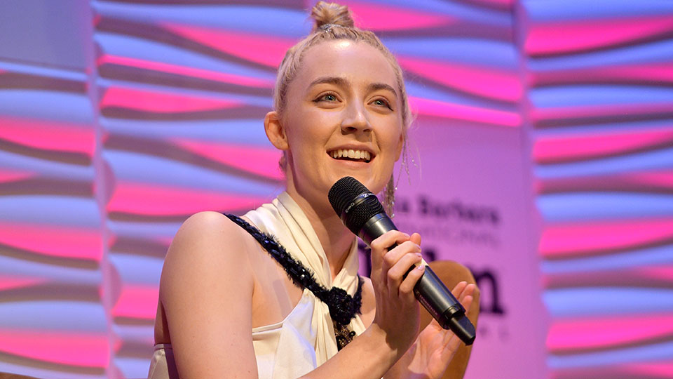 Saoirse Ronan Added the Coolest Accessory to Her Top Knot