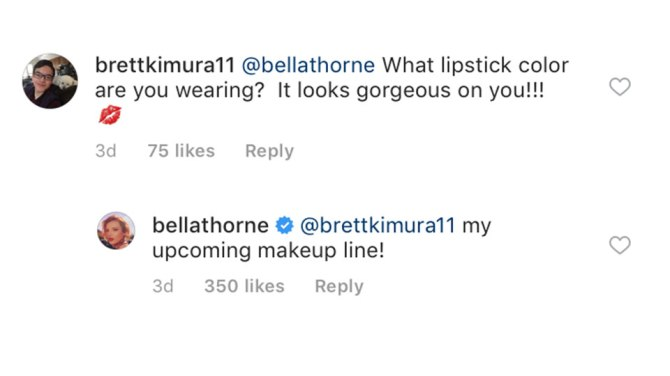 bella thorne makeup line Bella Thorne Announced Her New Makeup Line in the Quietest Way Possible