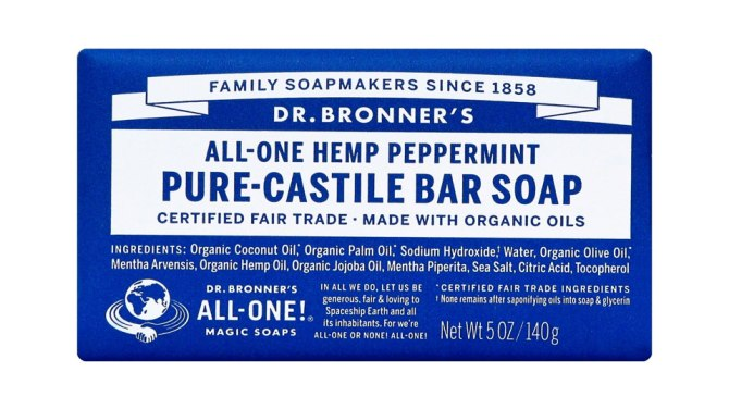 STYLECASTER | Clean Beauty Glossary | Dr. Bronner's Castille Soap