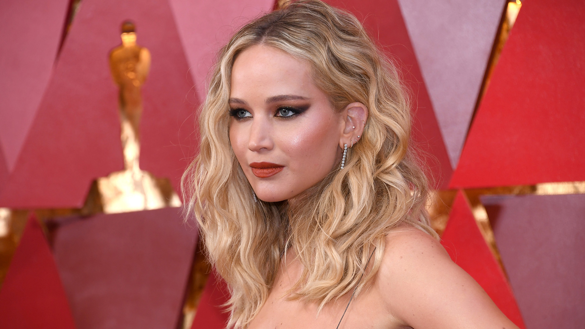 Jennifer Lawrence Stuns in a Majorly Deep V-Neck Dress | StyleCaster