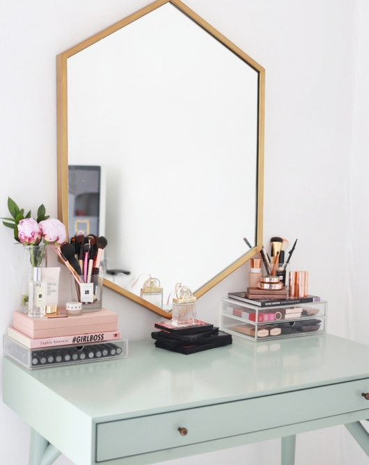 makeup storage kate lavie 20 Truly Innovative (and Instagrammable) Ways to Store Your Beauty Products