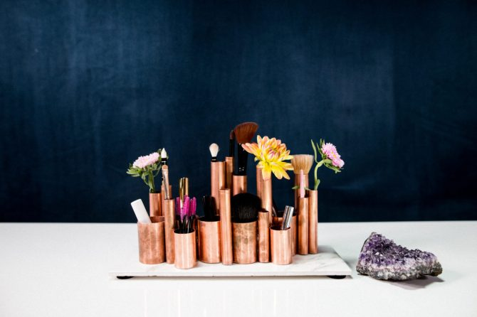 makeup storage mr kate 20 Truly Innovative (and Instagrammable) Ways to Store Your Beauty Products