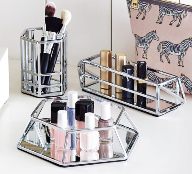 makeup storage pottery barn 20 Truly Innovative (and Instagrammable) Ways to Store Your Beauty Products