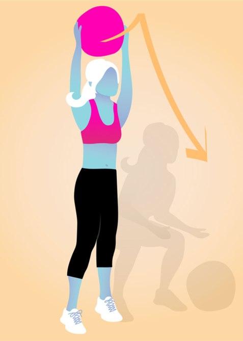 STYLECASTER   Gym Workout for Smaller Waist   Medicine Ball Slam