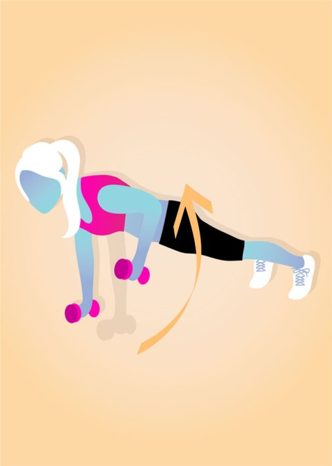 STYLECASTER   Gym Workout for Smaller Waist   Renegade Rows