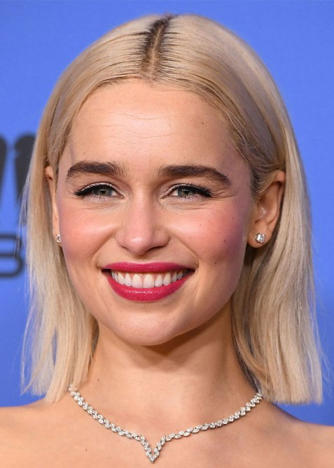 blunt haircuts emilia clarke The Straight Edge Hairstyle to Try When You Want to Level Up Your Look