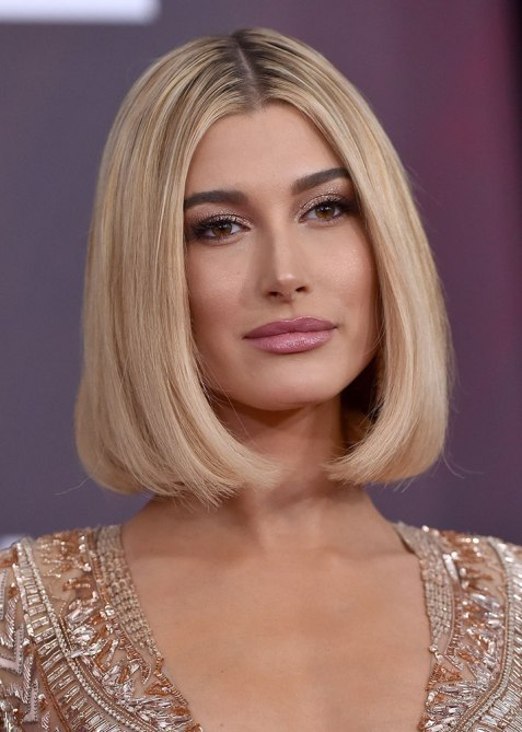 blunt haircuts hailey baldwin The Straight Edge Hairstyle to Try When You Want to Level Up Your Look