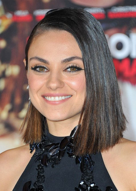 blunt haircuts mila kunis The Straight Edge Hairstyle to Try When You Want to Level Up Your Look