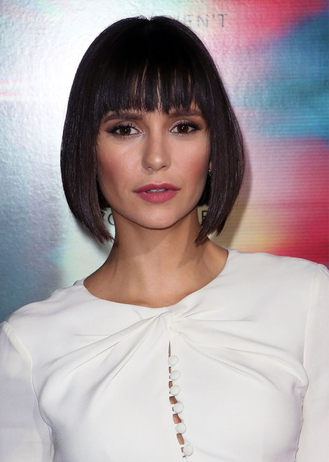 blunt haircuts nina dobrev The Straight Edge Hairstyle to Try When You Want to Level Up Your Look