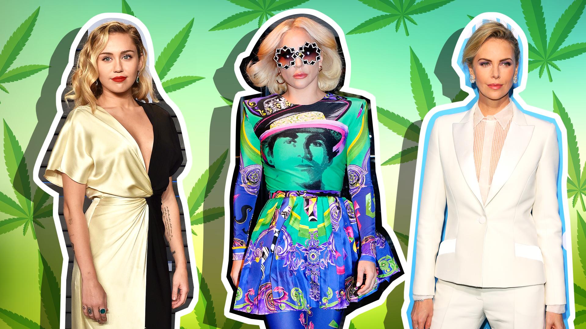 Lady Gaga, Miley Cyrus, Charlize Theron