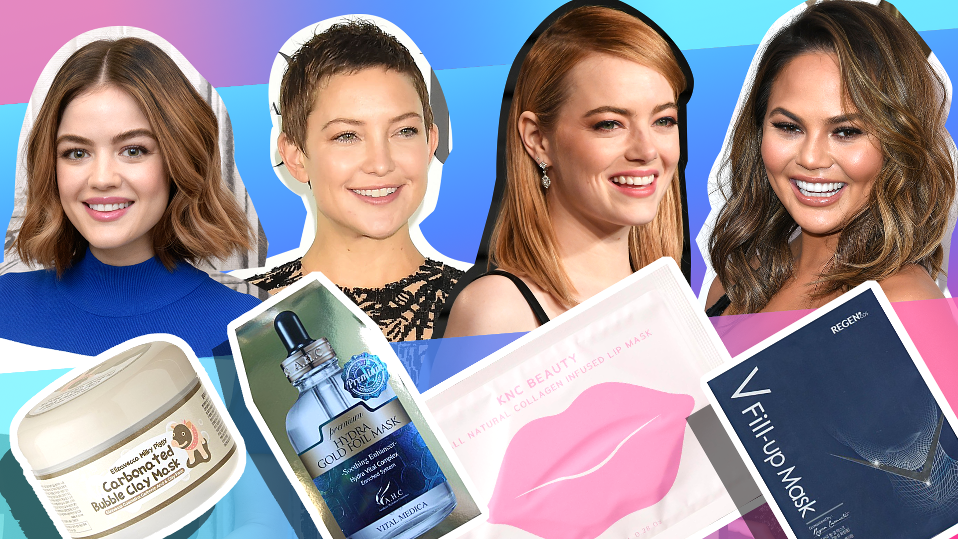 Lucy Hale, Kate Hudson, Emma Stone, Chrissy Teigen