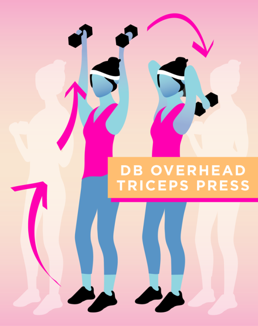 STYLECASTER | Quick and Dirty Workout for Stronger Arms | Overhead Triceps Press