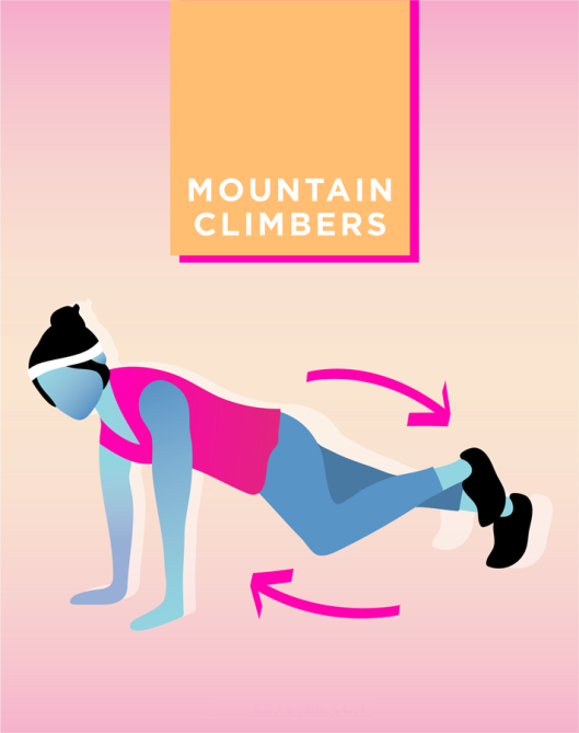 STYLECASTER | Quick and Dirty Workout for Stronger Arms | Mountain Climbers
