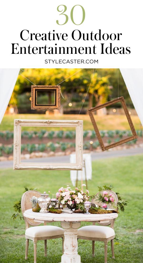 30 Amazing Outdoor Entertaining Ideas | @stylecaster