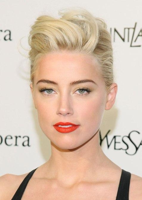 STYLECASTER | Celebrity Pompadours | Amber Heard