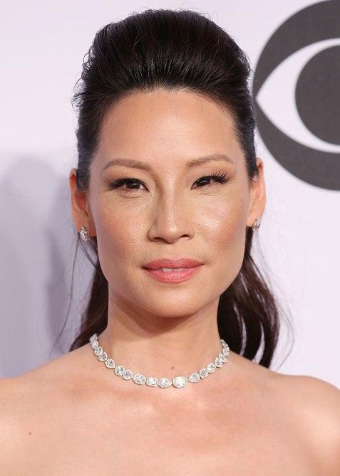 STYLECASTER | Celebrity Pompadours | Lucy Liu