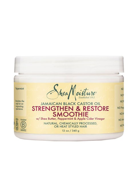 STYLECASTER | Best Product Pairs for Every Hair Texture | SheaMoisture Jamaican Black Castor Oil Strengthen & Restore Smoothie