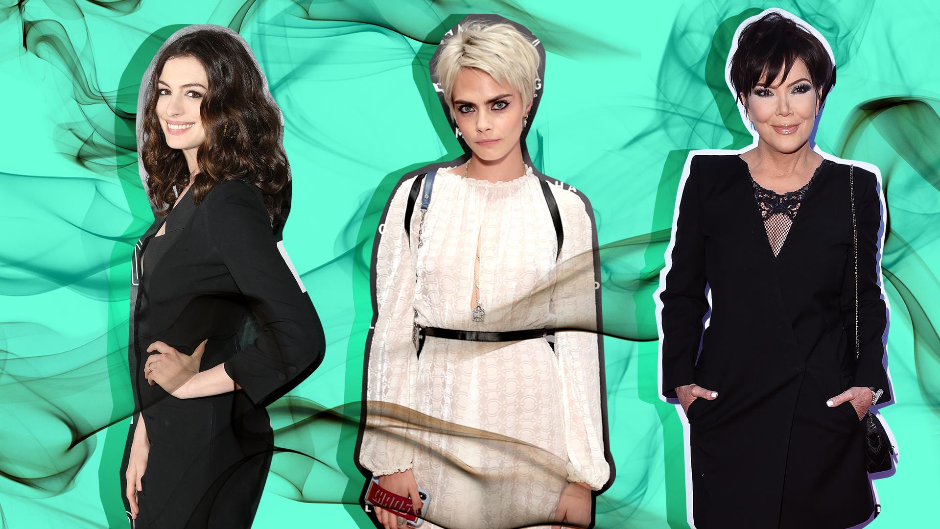 Anne Hathaway, Cara Delevingne, Kris Jenner