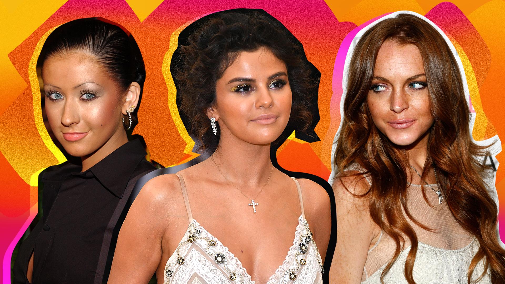 Selena Gomez, Christina Aguilera, Lindsay Lohan