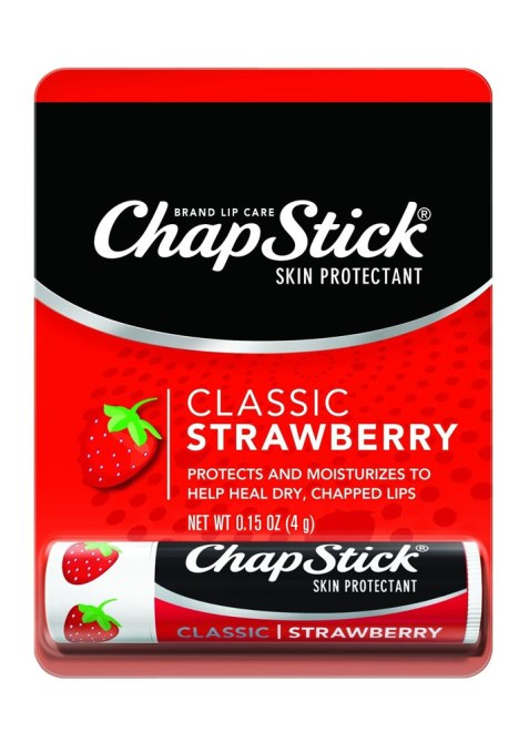 strawberry chapstick 9 No Nonsense Beauty Products Celebs Always Have While Traveling
