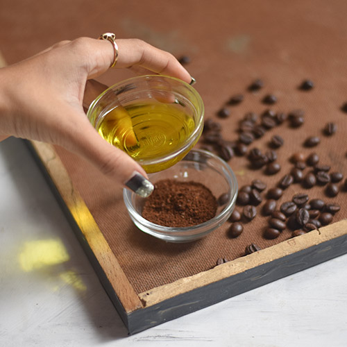the indian spot coffee scrub 13 DIY Coffee Scrub Recipes—From Face Masks to Hair Treatments