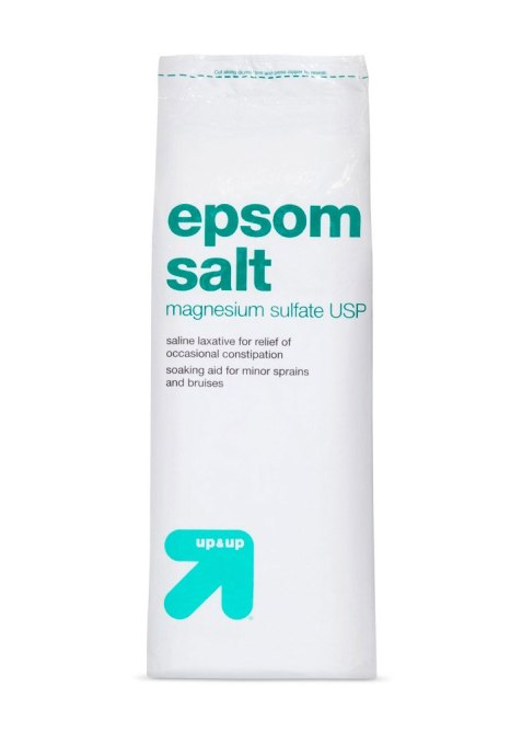 up and up epsom salt 9 No Nonsense Beauty Products Celebs Always Have While Traveling