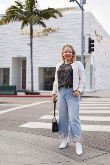 STYLECASTER | How to Dress Up Jeans | Liz in Los Angeles