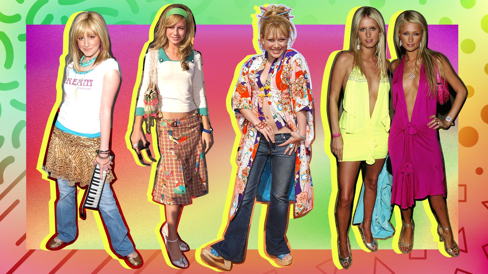 Celeb '90s and '00s Fashion