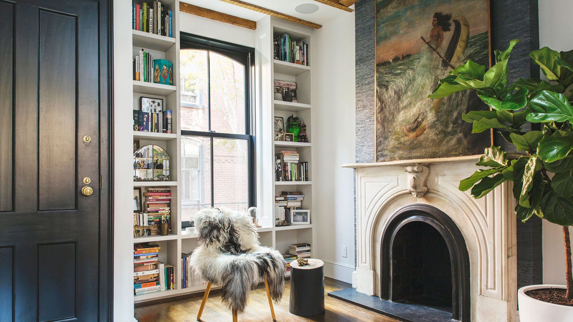 Cozy Den with Books