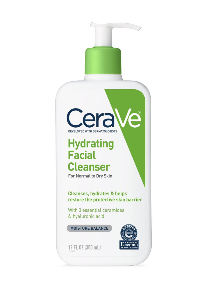 STYLECASTER | Lightweight Creamy Cleansers for Summer | CeraVe Hydrating Facial Cleanser