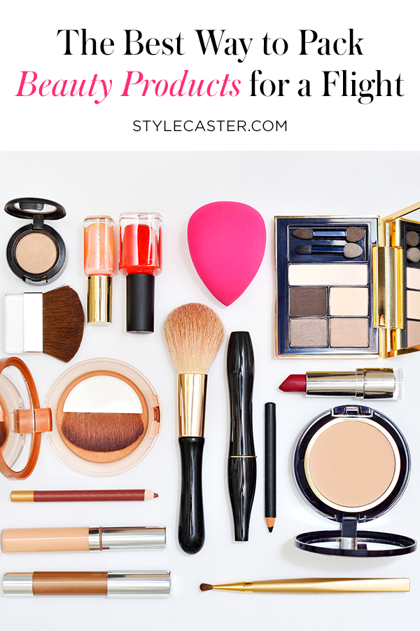 STYLECASTER | How to Expertly Pack Beauty Products for a Flight