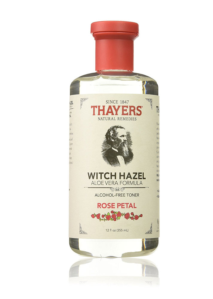 STYLECASTER | Best-Selling Skin Care on Amazon in 2017 | Thayers Alcohol-Free Rose Petal Witch Hazel with Aloe Vera