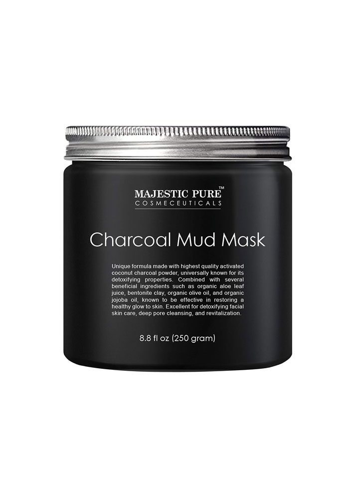 STYLECASTER | Best-Selling Skin Care on Amazon in 2017 | Majestic Pure Activated Charcoal Mud Mask