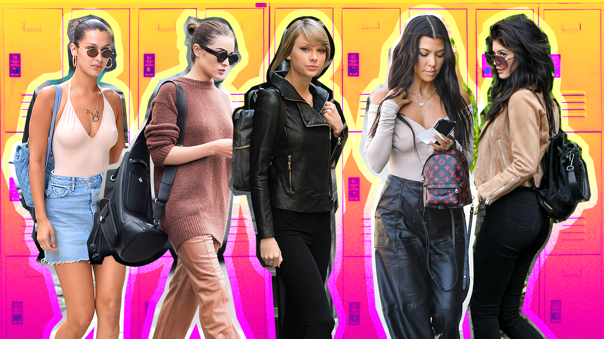 Celebrity Backpack Outfits