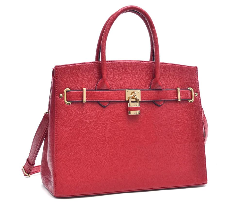 dasein padlock and key satchel handbag with removable shoulder strap 5 Birkin Alternatives You Can Actually Afford to Shop