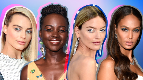 Trend Alert: Celebs Pairing Minimalist Makeup with Bold Liner | StyleCaster