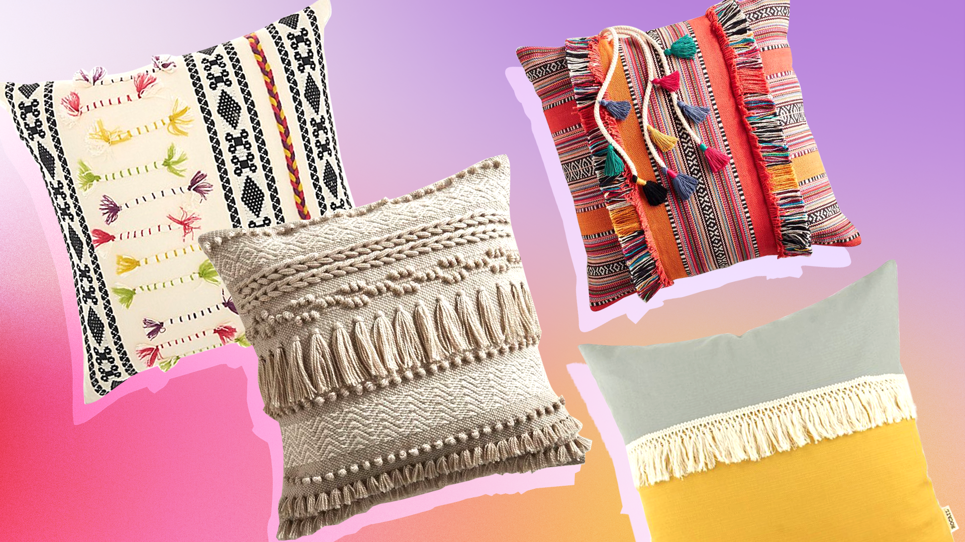 23 Fringe Pillows You (and Your Apartment) Need Immediately