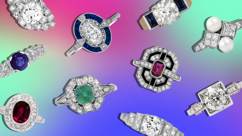 57 Art Deco Engagement Rings So Stunning They Practically Belong in Museums | StyleCaster