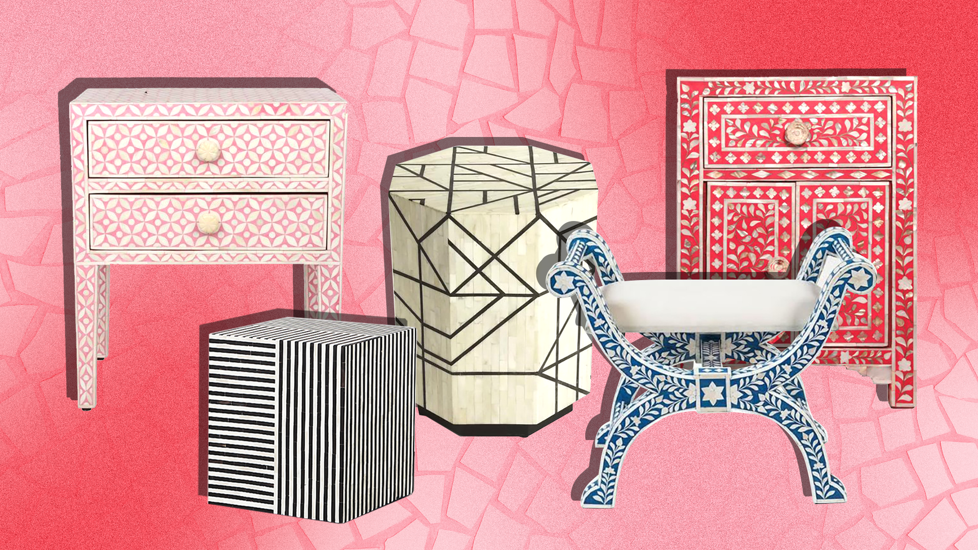 24 Pieces of Bone Inlay Furniture That Will Instantly Elevate Any Apartment