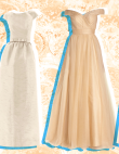 Champagne Wedding Dresses for Brides Who Prefer Off-White