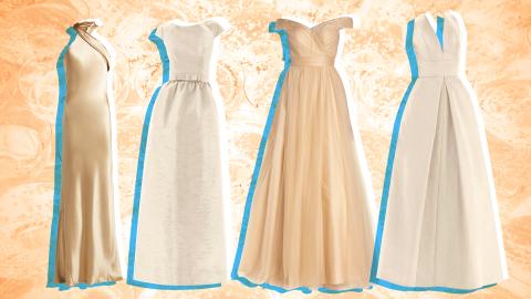 Champagne Wedding Dresses for Brides Who Prefer Off-White | StyleCaster