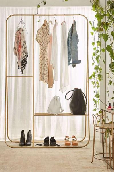 Garment Rack Into Home Decor, Rose Gold Garment Rack