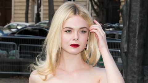 Elle Fanning Looks Like a Literal Garden In This Gorgeous Flower-Covered Gown | StyleCaster