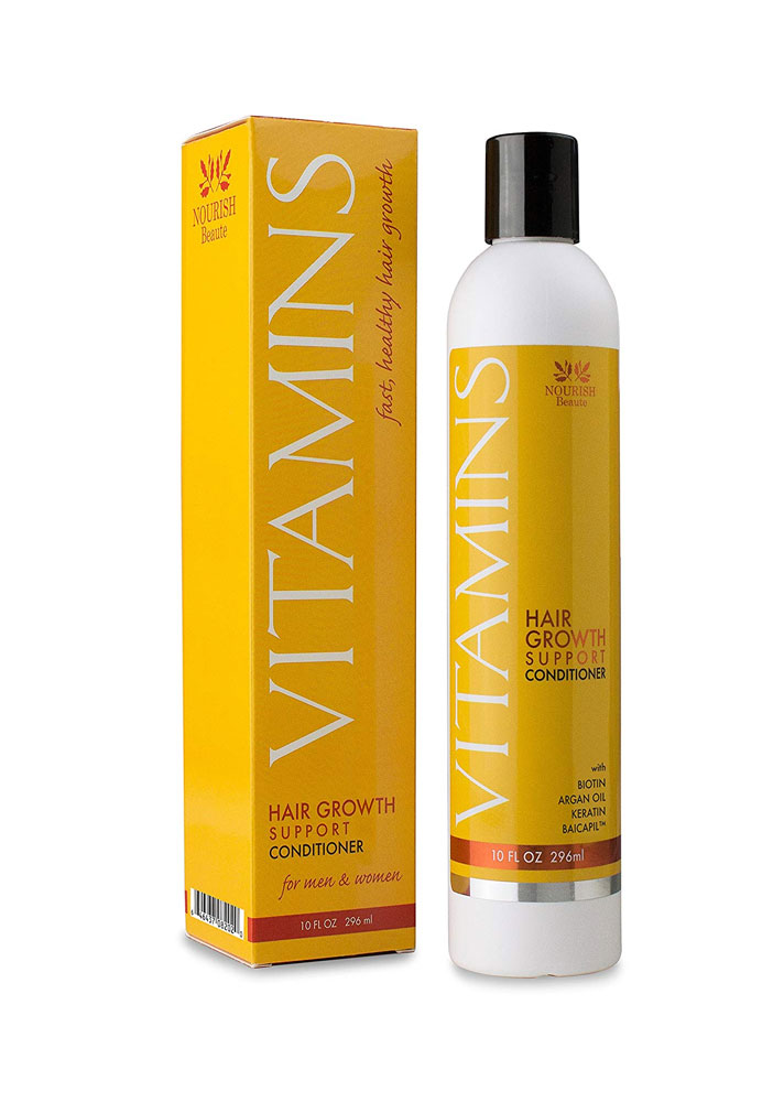 STYLECASTER | Products for Thinning Hair | Nourish Beaute Vitamins Hair Loss Conditioner