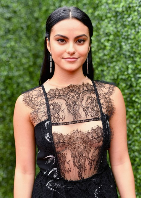 half up half down camila mendes 1 Trend Alert: Celebs Cant Stop Wearing the Half Up, Half Down Hairstyle