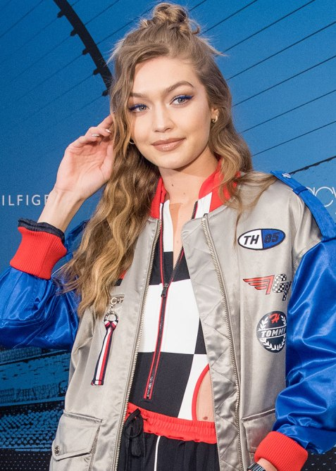 half up half down gigi hadid 1 Trend Alert: Celebs Cant Stop Wearing the Half Up, Half Down Hairstyle