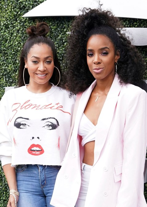 half up half down kelly rowland Trend Alert: Celebs Cant Stop Wearing the Half Up, Half Down Hairstyle