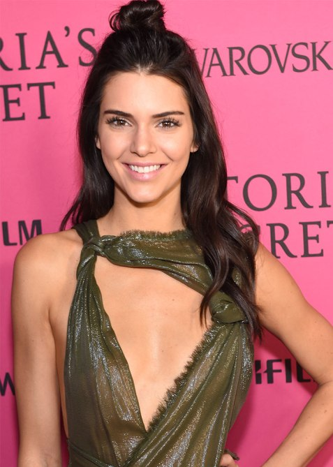 half up half down kendall jenner Trend Alert: Celebs Cant Stop Wearing the Half Up, Half Down Hairstyle