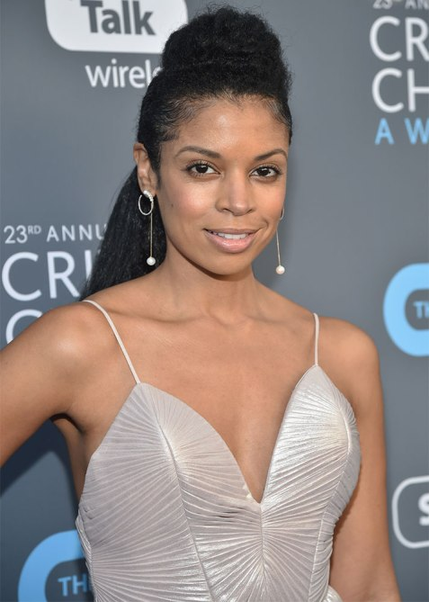 half up half down susan kelechi watson 1 Trend Alert: Celebs Cant Stop Wearing the Half Up, Half Down Hairstyle